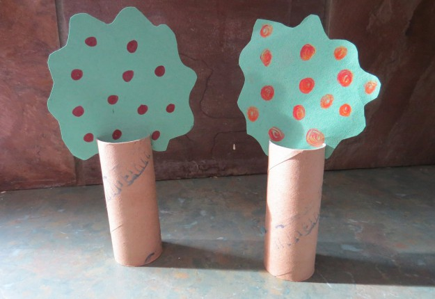 Toilet Roll Fruit Trees